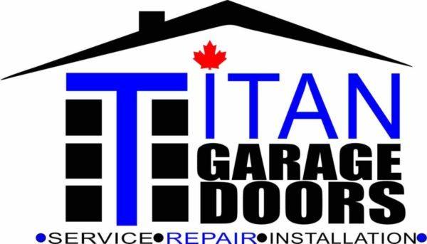 the logo of titan garage doors