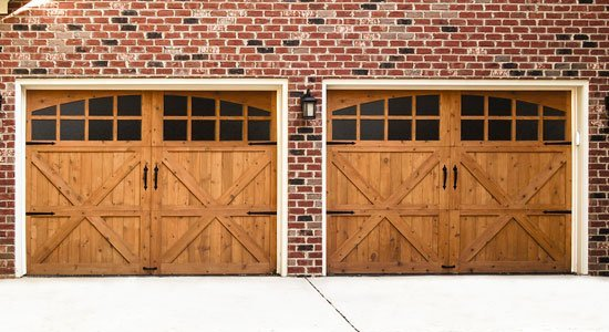 wood garage doors by titan garage doors