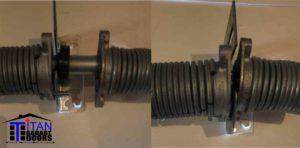 2 springs and garage door center plate