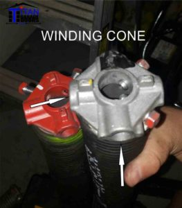 TORSION SPRING WINDING CONE