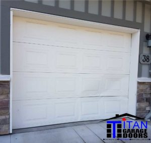 bent garage door sections