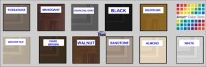 garage door standard colors