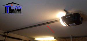 garage door operator rail