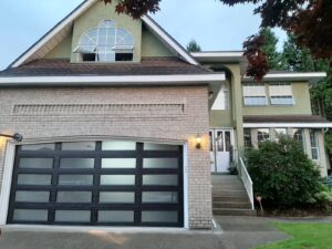 custom glass garage door placement