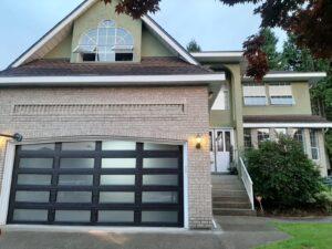 custom glass garage door placement